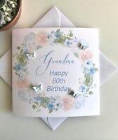 Personalised Birthday Card Mum, Grandma, Aunty, 70th 80th 60th 50th Any name age