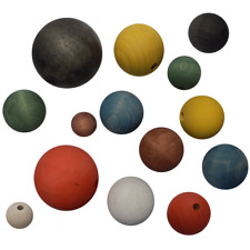 Holzkugeln Kugeln gebohrt o. halbgebohrt 30 35 40 45 50 60 70 80 mm natur farbig