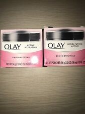 Lot Of 2~ OLAY Active Hydrating Original Cream 2 oz. Restores Hydration.