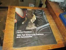 Harley NOS 1980 Fall Fashions & Accessories Brochure 99458-81V