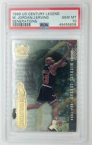 1999 UD Century Legend Generations Michael Jordan Julius Irving, Graded PSA 10