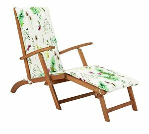 Argos Home Wooden Steamer Chair with Moorland Cushion