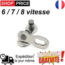 Maillon chaine de vélo VTT boucle attache rapide 6/7/8 vitesse