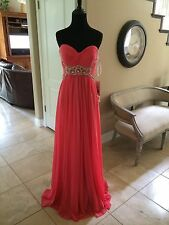 "$358 NWT ""STRAWBERRY"" SHERRI HILL PROM/PAGEANT/FORMAL DRESS/GOWN #3904 SIZE 2"