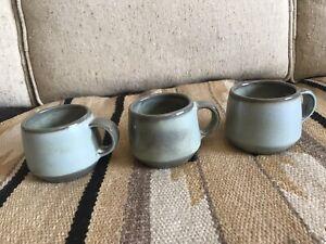 Frankoma Woodland Moss Westwind Coffee Mugs 6C Set Lot of 3