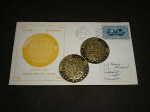 1956 UNITED STATES Stamps DALLAS CENTENNIAL Cover DALLAS TO CANADA