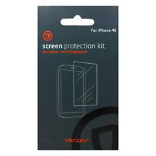 Ventev Anti-Glare Durable Full Face 2 Pack Screen Protector Kit For iPhone 4/4s