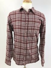 Mountain Khakis Plaid Flannel Button Down Red White Long Sleeve Shirt Mens Sz XL