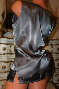 (R1) CALEIDOSCOPE Super Shiny Faux Satin Classic Fit Ladies Blouse Top size 16