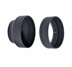 JJC LS-52S 52mm Universal 3-in-1 Collapsible Silicone Lens Hood