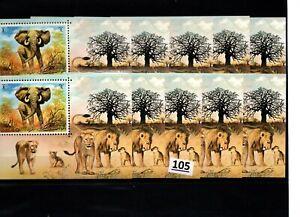 // 10X UMM AL QIWAIN - MNH - WILD ANIAMLS - LIONS - ELEPHANTS