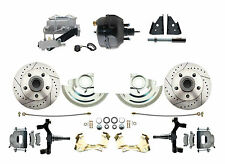 """2"""" Drop Disc Conversion Kit w/ Drilled / Slotted Rotors & 9"""" Dual Power Brakes"""