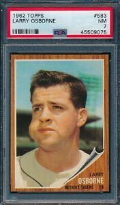 1962 Topps Set Break # 583 Larry Osborne PSA 7 *OBGcards*