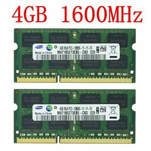 8GB 2x 4GB 2GB 1GB PC3-12800S DDR3 1600MHz 204Pin Laptop Memory RAM Samsung LOT