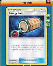 Pokemon TCG ONLINE x4 Energy Lotto (DIGITAL CARD) Trainer Item