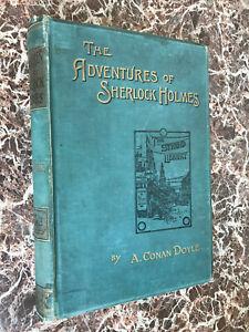"Adventures of Sherlock Holmes,1894 Arthur Conan Doyle First Form ""Third"" Edition"