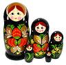Poupée Russe 5 pieces cadeau Enfant, Poupée Russe Matriochka - Khokhloma
