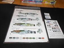 KOMMANDEUR KD72OIFW JG26 LOW NUMBERS LTD.ED. #430 OF 1,000 DECAL SHEET/ Fw190A/D