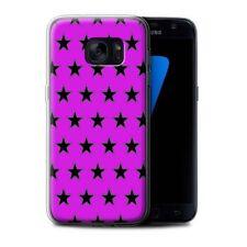 Étuis, housses et coques violets Samsung Galaxy S7 en silicone, caoutchouc, gel pour téléphone mobile et assistant personnel (PDA)