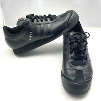 Adidas Original Samoa Leather Casual Triple Black Shoe Men's Size 8.5