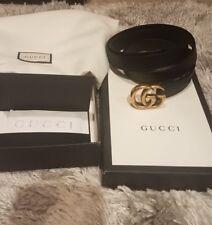 Gucci GG size 80 skinny black women's belt