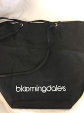 BLOOMINGDALE'S Tote Black Vintage Shopping Beach Bag Nylon  DF