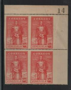 Venezuela: Scott 292 in block of with control number perf. and imperf... VZ0842