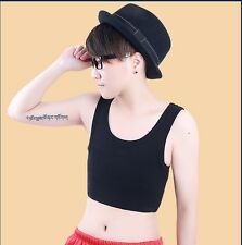 Casual Les with elastic band pullover cotton Bustiers cosplay Chest Binder