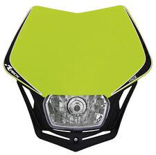 Mascherina Faro Anteriore Universale Moto Rtech V-face Giallo Fluo Headlight