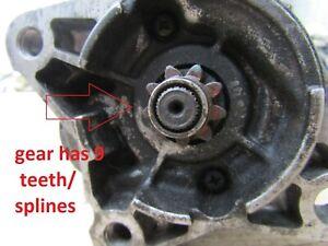 128000-0040 STARTER 9 TEETH ENGINE RF RWD 2,0cc DIESEL MAZDA  USED