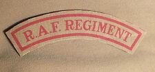 Khaki RAF Regiment mudguards reproduction printed badges WWII WW2