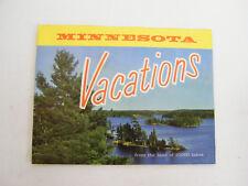 Vintage 1960's Minnesota Vacations Booklet