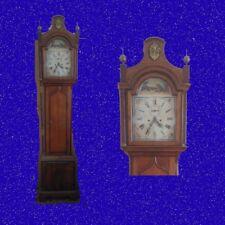 Mahogany and Oak Pagoda Top Regency Long Case Clock  1820