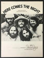 1968 Here Comes The Night The Beach Boys Brian Wilson Sheet Music