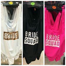 BRIDE / BRIDE SQUAD Swimsuit Swimming Costume Swimwear Ladies Womens Primark