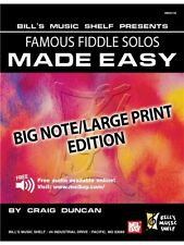 Famous Fiddle Solos Made Easy Big Note Large Print Edition Present MUSIC BOOK