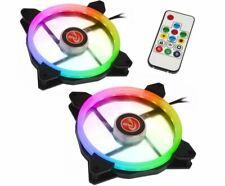 Raijintek IRIS 14 Rainbow RGB LED PWM 140mm Fan with Controller - Twin Pack