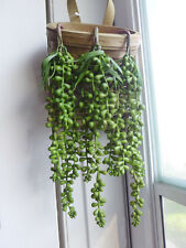 """3 Bunches Artificial Plants Plastic Pearl Bead Hangings (11"""" each)"""