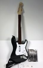 Wii Rock Band Fender Strat Guitar Controller Bundle w Dongle & Game