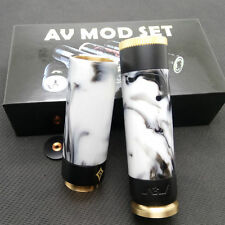 Av Able Stacked Dual 18650 Mechanical Mod Kit Clone Brass +Resin