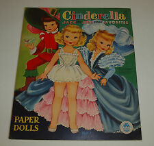 Vintage Merrill 1957 CINDERELLA Jack Jill FAVORITES Paper Dolls Uncut Complete
