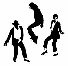 Michael Jackson Silhouette Collection 2 - MJ King of Pop Decal Set - Pack of 3