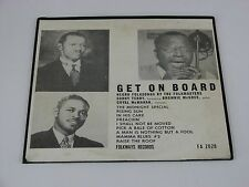 "Get On Board Negro Folkways by The Folkmasters 10"" LP FA 2028"
