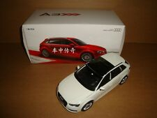1/18 2014 China FAW Audi A3 Sportback model white color
