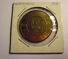 Commerative 1886-1936 Westinghouse Golden Jubilee Medal, Token, Coin