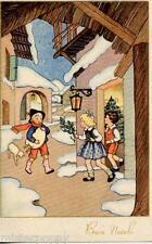 Bambino Zampognaro Cornamusa Bagpipe Children Xmas PC Circa 1930 Italy