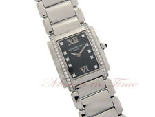 Patek Philippe 4910/10a Ladies' Twenty-4 Stainless Steel with Black Diamond Dial