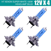 4PCS H7 BULBS 100W SUPER WHITE XENON HEADLIGHT BULBS SET 499 12V FULL/DIPPED A