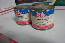 K & B Super Poxy Paint 2) 1/4Pint Full Cans Of Matallic Green Part A Paint