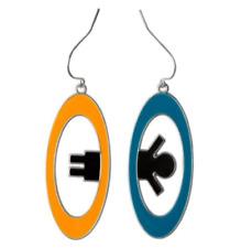 Portal 2 Inter-Spatial Portal Earrings! Gamer Gift - Halloween JINX - Aperture